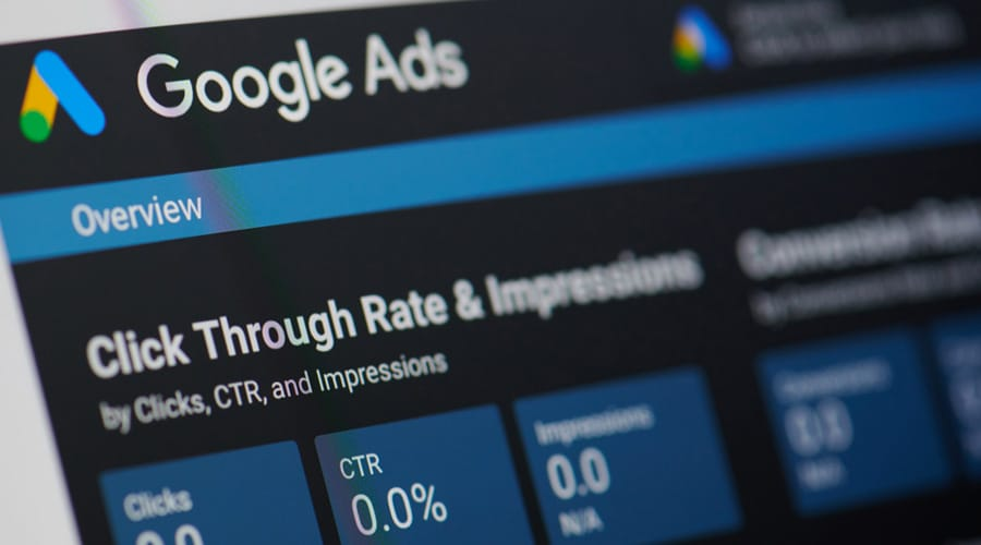 google ads screen