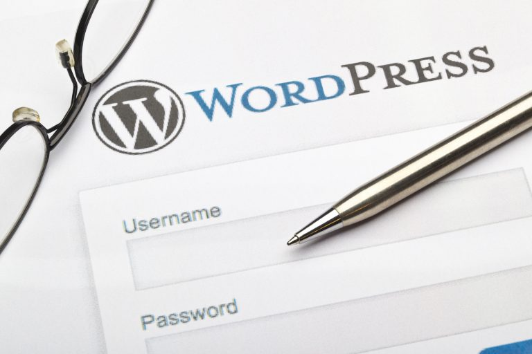 image of WordPress brand and pen