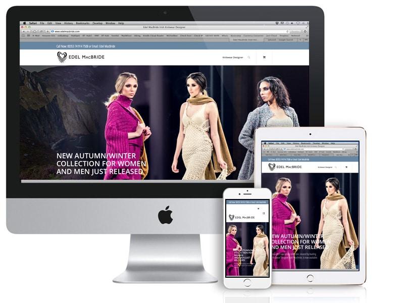Image of Web Design for Edel MacBride Knitwear